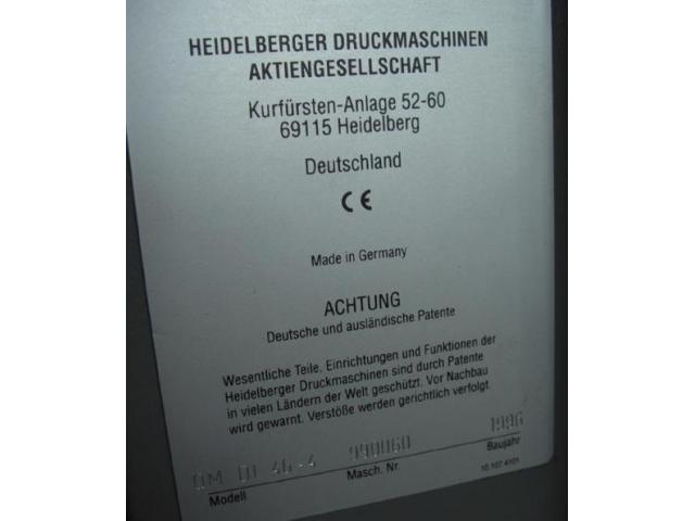 Heidelberg Quickmaster DI 46-4 Digitaloffsetdruckmaschine - 5