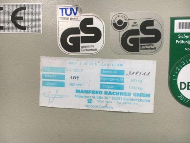 Rachner R 1000 P Stapelwender - 2