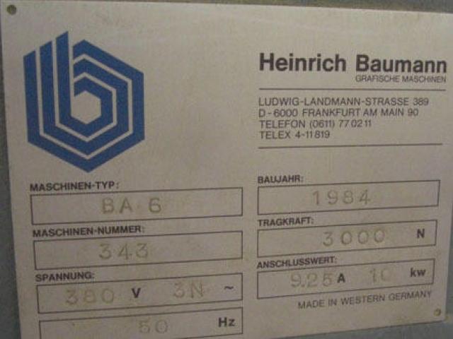 Baumann BA 6 N Grossformat-Abstapler - 3