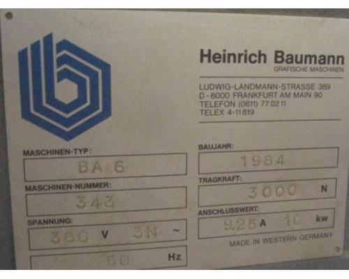 Baumann BA 6 N Grossformat-Abstapler - Bild 3