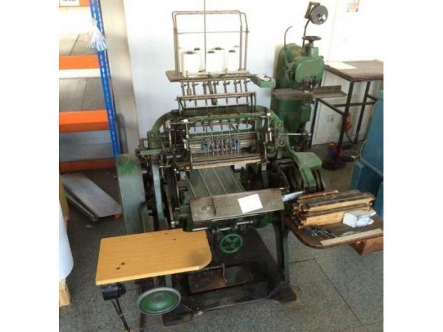 Brehmer 39 3/4-2 halbautomatische Buchblock-Fadenheftmaschine - 1