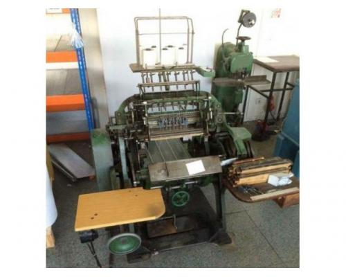 Brehmer 39 3/4-2 halbautomatische Buchblock-Fadenheftmaschine - Bild 1