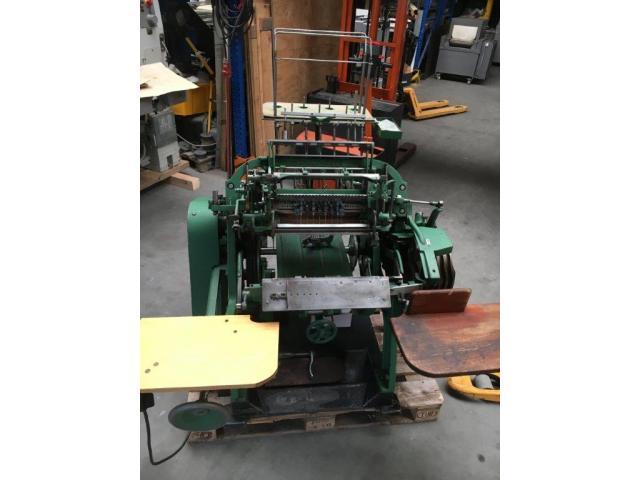 Brehmer 39 3/4-2 halbautomatische Buchblock-Fadenheftmaschine - 2