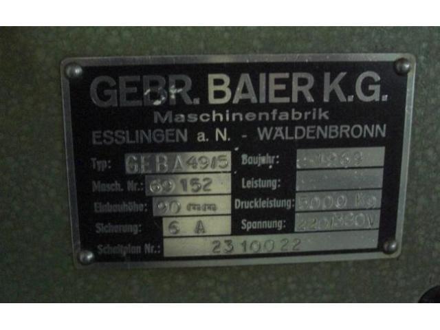 Baier Geba 49-5 Heiss-Prägepresse - 3