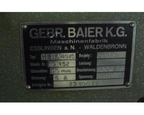 Baier Geba 49-5 Heiss-Prägepresse - Bild 3