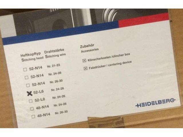 Heidelberg 52-L6 Ringösenheftköpfe - 2