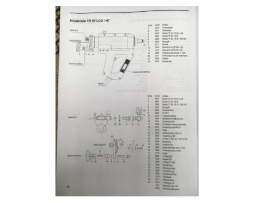 Reka TR 55 LCD HT pneumatische Heissklebepistole - Bild 6
