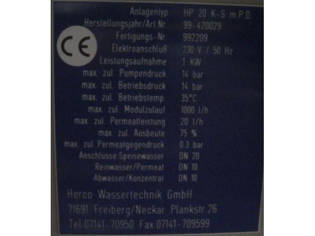 Herco Wasseraufbereitung Umkehrosmose - 2