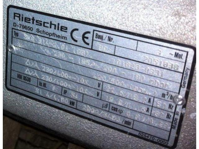 Elmo-Rietschle Seitenkanalverdichter Gebläse SKG 314-2 - 2