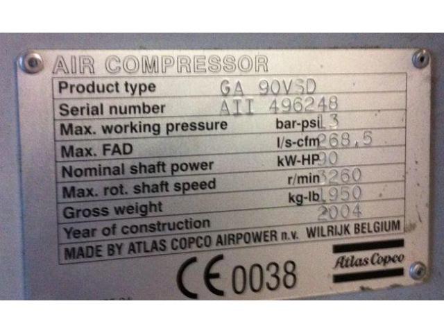 Atlas Copco GA 90 VSD öleingespritzter Schraubenkompressor - 3