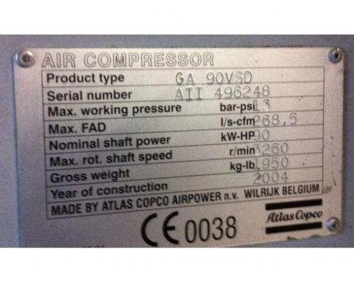 Atlas Copco GA 90 VSD öleingespritzter Schraubenkompressor - Bild 3