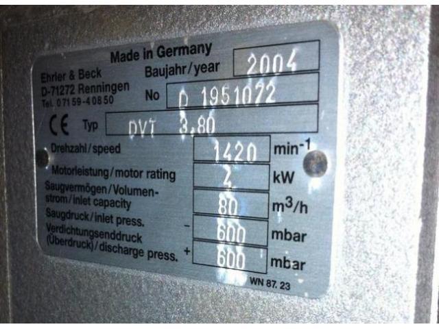 Ehrler & Beck DVT 3.80 Druck- und Vakuumkompressor - 2