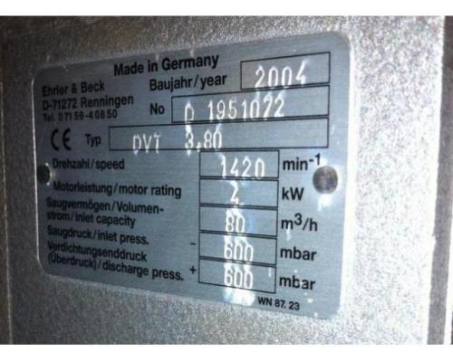 Ehrler & Beck DVT 3.80 Druck- und Vakuumkompressor - Bild 2