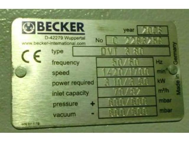 Becker DVT 3.80 Druck- und Vakuumkompressor - 2