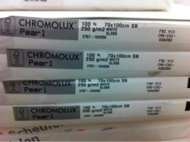 Feinpapier Chromolux Pearl - 1