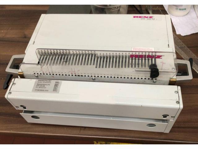 Renz DTP 340 elektrische Wire-O-Stanzmaschine - 1