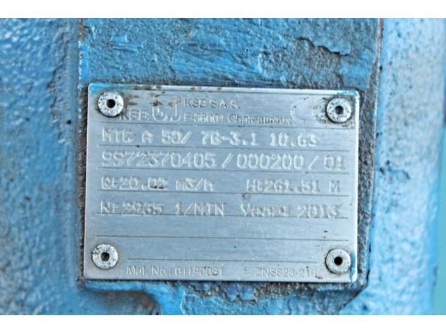 Hochdruckkreiselpumpe KSB MTC-A 50 / 7B-3.1 10.63 - 6