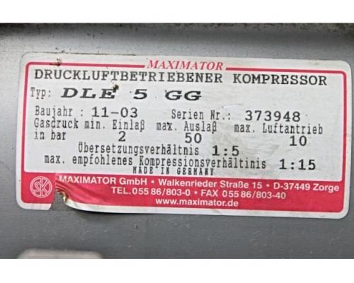 MAXIMATOR - druckluftbetriebener Kompressor DLE 5 GG - Bild 2