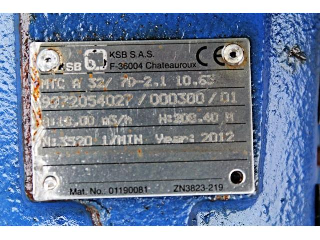 Hochdruckkreiselpumpe - KSB MTC-A 32/5C -02.1 - 10.61 - 3