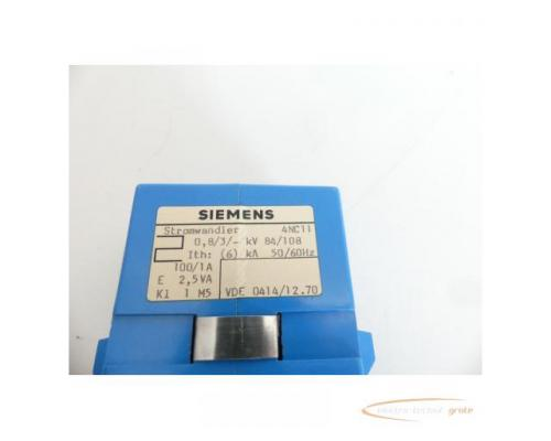 Siemens 4NC11 AUFSTECKWANDLER KLASSE 1, SEK. 1A, PRIMAER 100A, 2,5VA - Bild 4