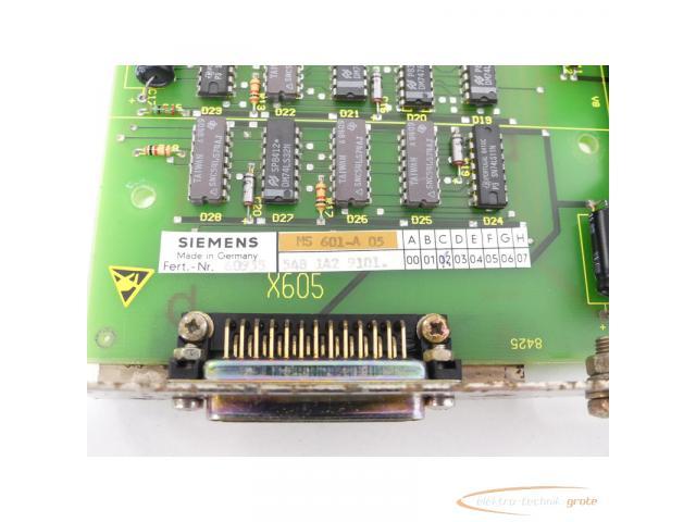Siemens 6FX1114-2AA01 SINUMERIK 8 MS601-A 05 Anpassung Fanuc-Leser SN:60935 - 4