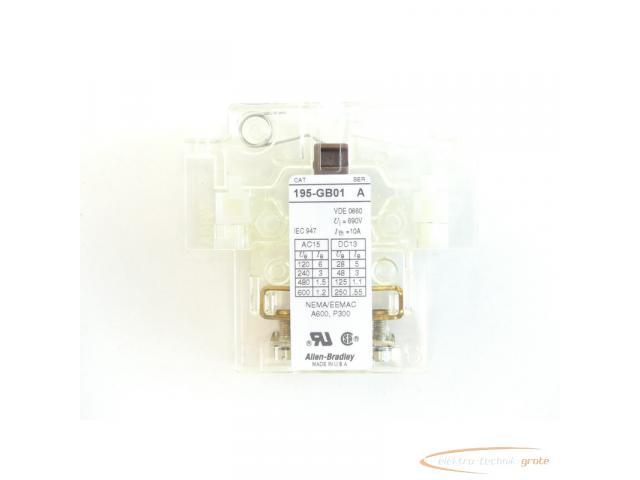 Allen Bradley 195-GB01 Hilfsschalter Series A - ungebraucht! - - 3