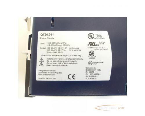 PULS DIMENSION QT20.361 Power Supply SN:7099185 - Bild 5