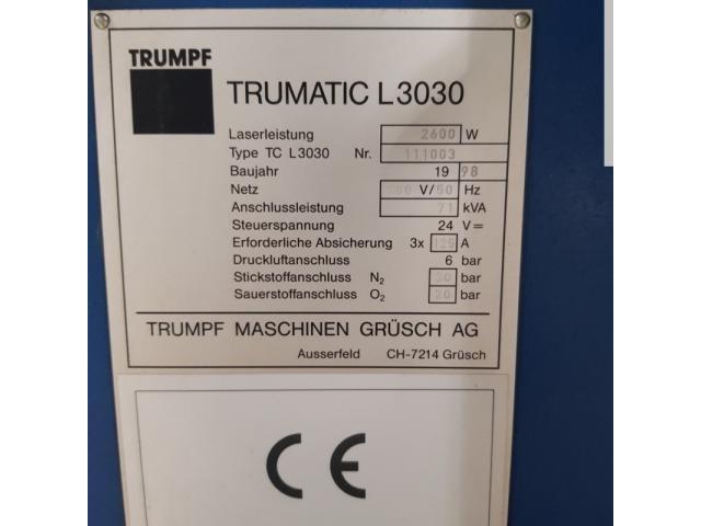TRUMPF Trumatic L 3030 Laserschneidmaschine - 3