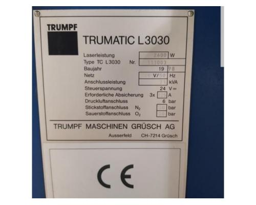 TRUMPF Trumatic L 3030 Laserschneidmaschine - Bild 3