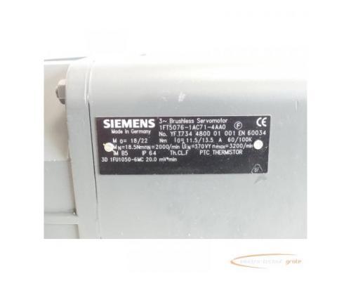 Siemens 1FT5076-1AC71-4AA0 AC-VSA-Servomotor SN:YFT734480001001 - Bild 4