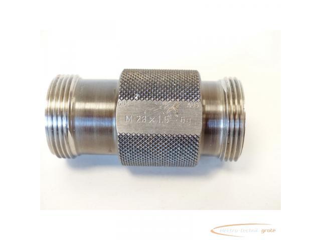 AGGRA-KORDT Gewindelehrdorn M 28 x 1.5 - 6g nicht kalibriert - 6