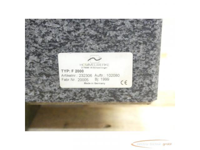 Hommel Formline Form - Messsysteme f. Produktion + Messraum Typ Hommel Tester F 2000 - 5