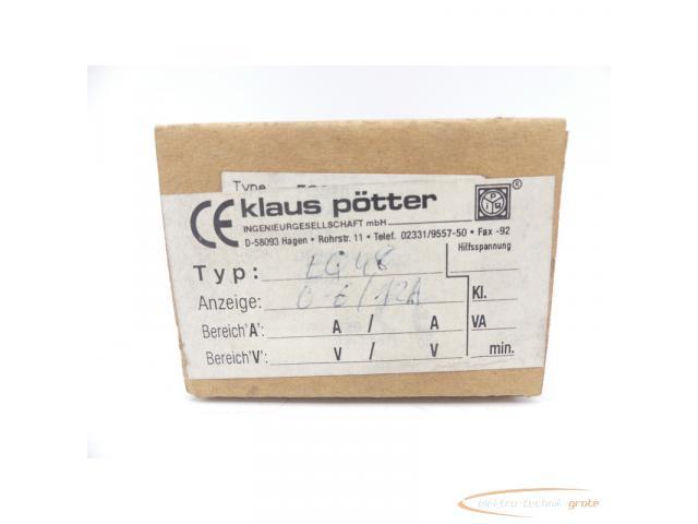 klaus pötter EQ48 Ampermeter 0-6/12 A Einbaumessgerät - 1