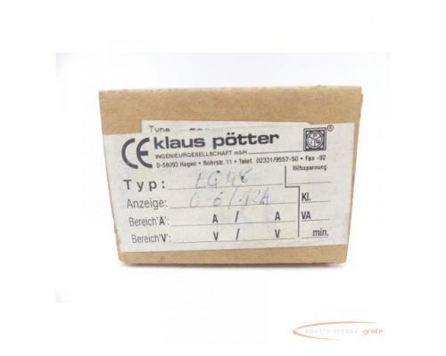 klaus pötter EQ48 Ampermeter 0-6/12 A Einbaumessgerät - Bild 1