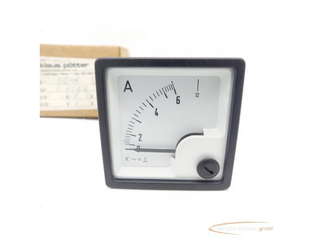 klaus pötter EQ48 Ampermeter 0-6/12 A Einbaumessgerät - 2