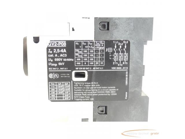 Telemecanique GV2-P08 Motorschutzschalter 2,5 - 4 A max. - 5