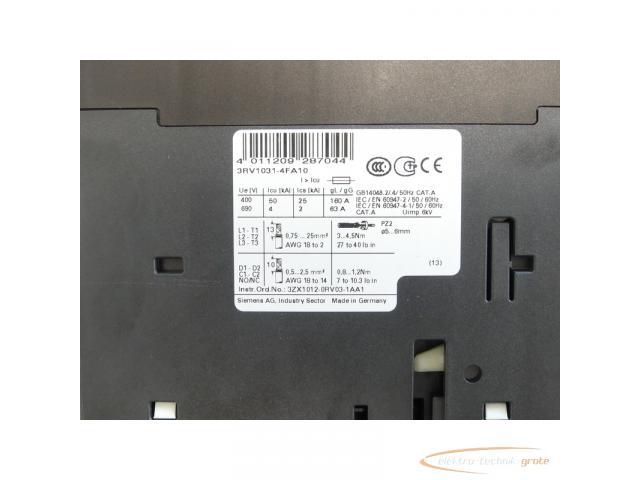 Siemens 3RV1031-4FA10 Leistungsschalter 28 - 40 A max. - ungebraucht! - - 4