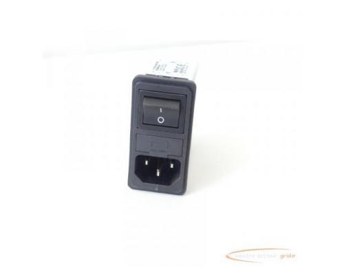 Schaffner FN286B-6-06 Gerätestecker mit Schalter 110/250V - ungebraucht! - - Bild 1