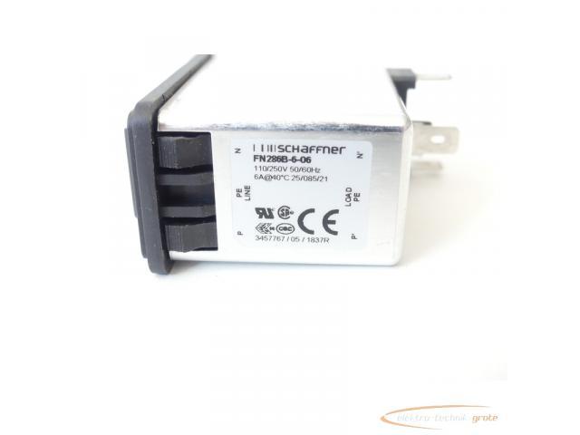 Schaffner FN286B-6-06 Gerätestecker mit Schalter 110/250V - ungebraucht! - - 2