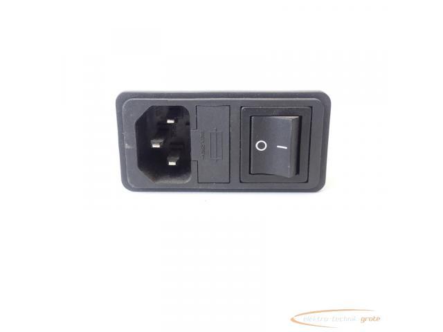 Schaffner FN286B-6-06 Gerätestecker mit Schalter 110/250V - ungebraucht! - - 4