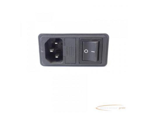 Schaffner FN286B-6-06 Gerätestecker mit Schalter 110/250V - ungebraucht! - - Bild 4