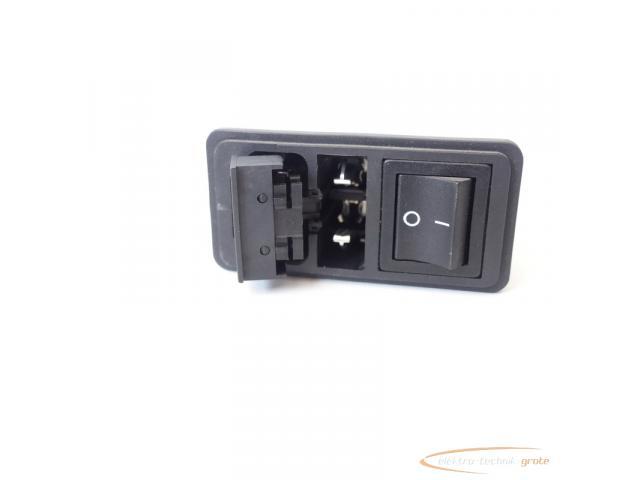 Schaffner FN286B-6-06 Gerätestecker mit Schalter 110/250V - ungebraucht! - - 5