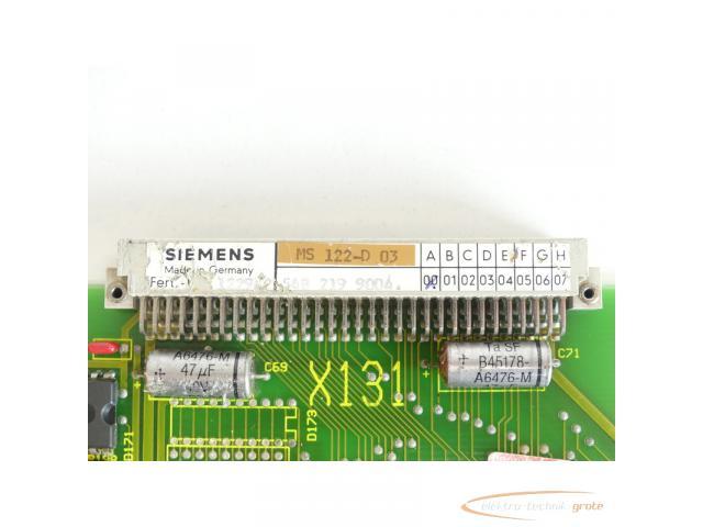 Siemens MS122 / MS 122-D 03 Board SN:1229 - 6