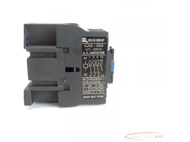 Delixi Group CJX2-093 / LC1-D0910 Leistungsschütz 220V - 6