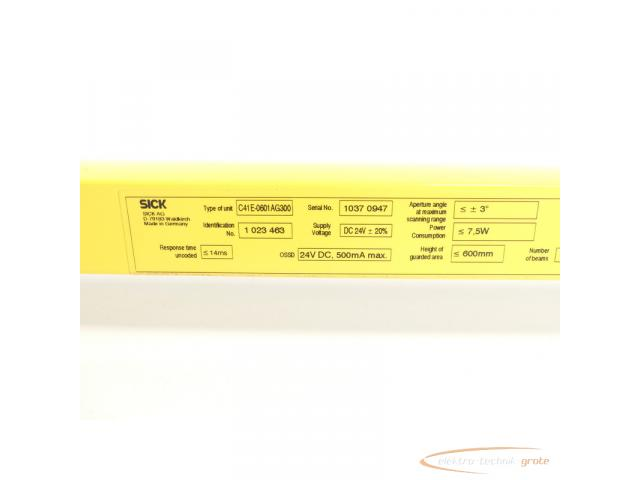 Sick C41E-0601AG300 C4000 Micro Empfänger Id.Nr. 1 023463 SN:10370947 - 6