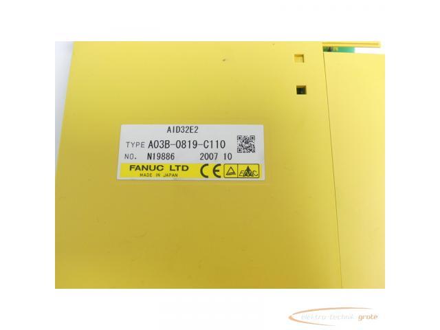 Fanuc A03B-0819-C110 Module AID32E2 No. N19886 - 2