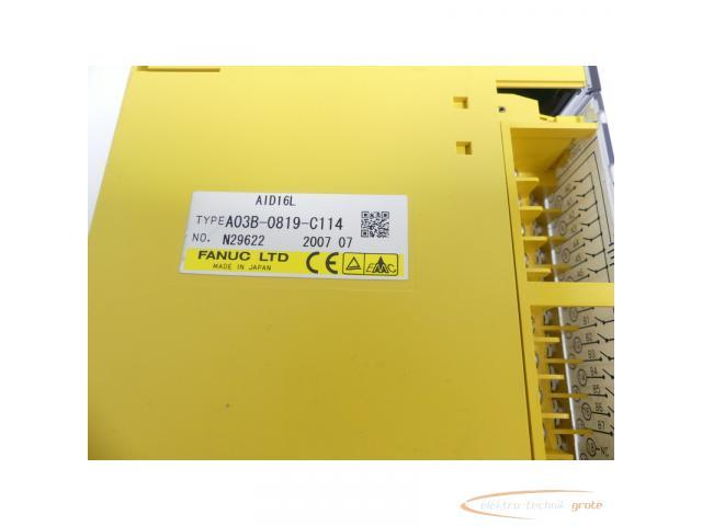 Fanuc A03B-0819-C114 Module AID16L No. N29622 - 2