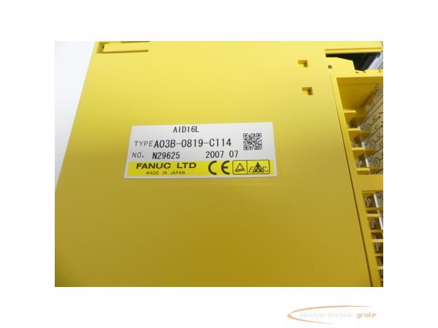 Fanuc A03B-0819-C114 Module AID16L No. N29625 - 2