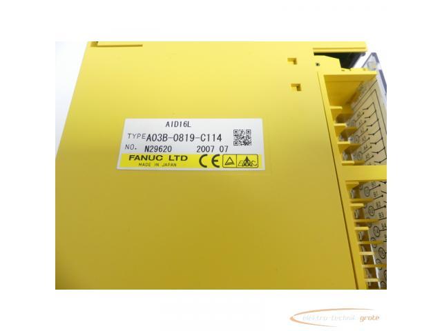 Fanuc A03B-0819-C114 Module AID16L No. N29620 - 2