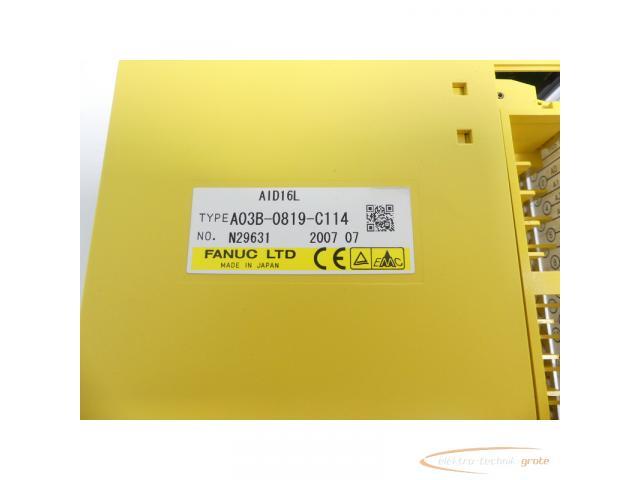 Fanuc A03B-0819-C114 Module AID16L No. N29631 - 2